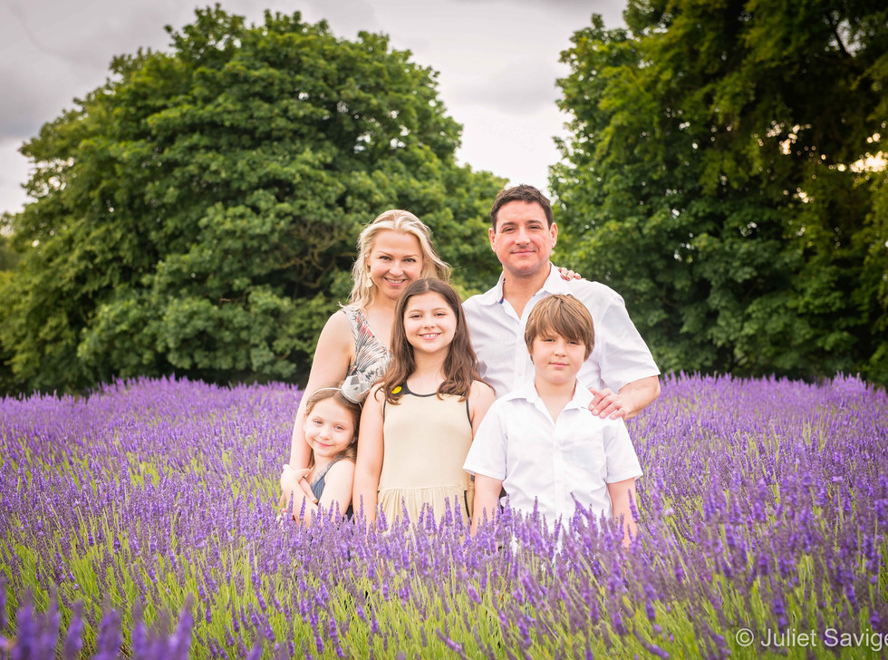 Family Portrait In The Lavender