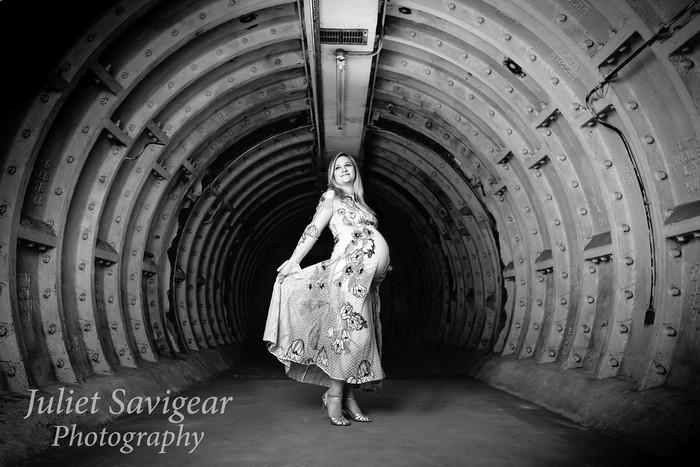 Underground Tunnel For Maternity Photo Shoot - Clapham