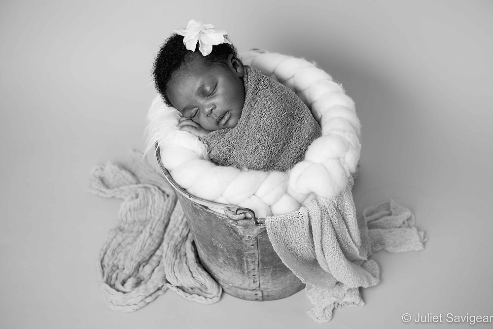Baby In A Bucket - Newborn Baby Photographer, Streatham