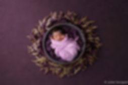 Baby in Purple Wreath