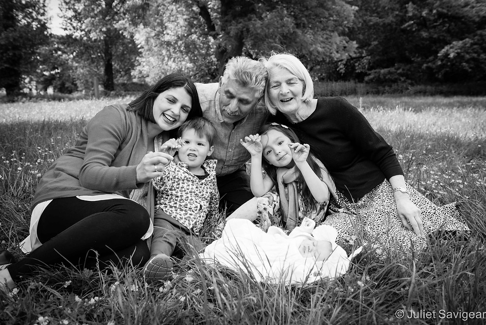 Family Group Portrait In The Park - Wimbledon