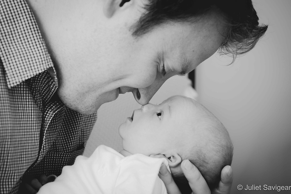 Daddy & Baby Nose To Nose