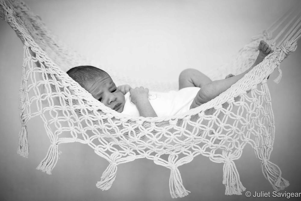 Baby In Hammock - Newborn Baby Photography, Battersea