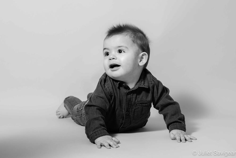 Studio style baby photography