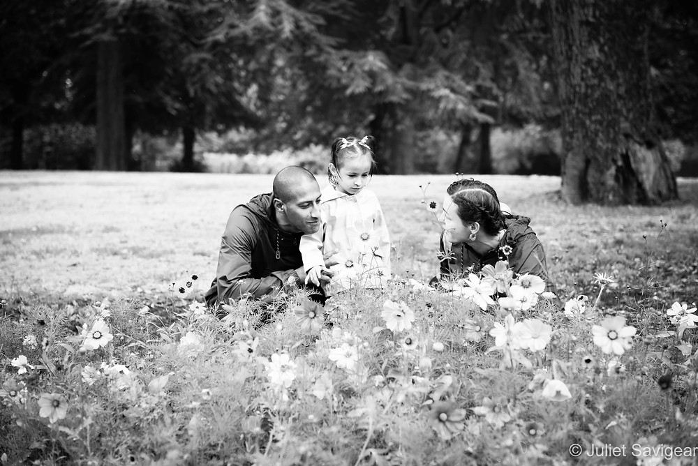 Family Portrait By Wild Flowers - Family Photography, Chiswick