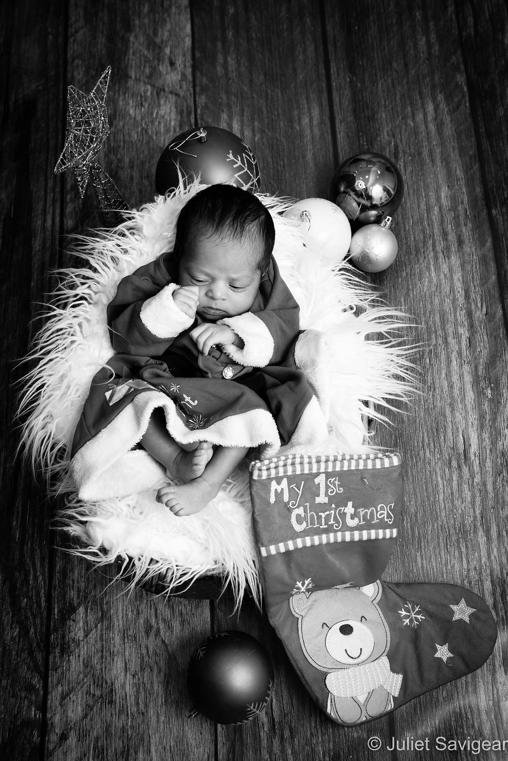 My First Christmas - Newborn Baby Photography, Colliers Wood
