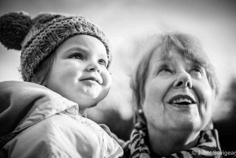 Toddler & Grandma - Family Photography, Brockwell Park