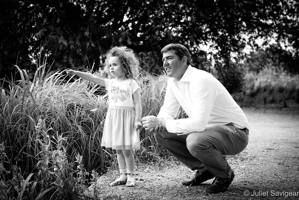 Father & daughter in the park