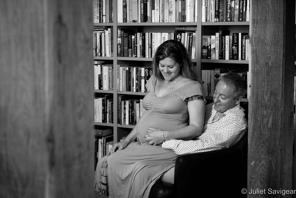 In The Library - Pregnancy Photography, Essex