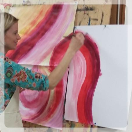 Intuitiv Malen – Sehnsucht nach Farben