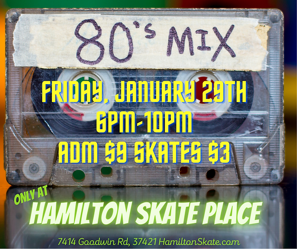 80's Music Night at Hamilton Skate Place