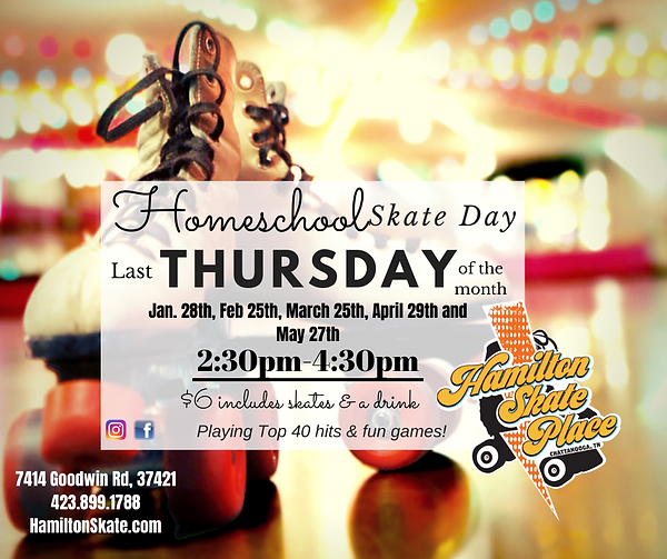 Homeschool Skate Day at Hamilton Skate Place 2021