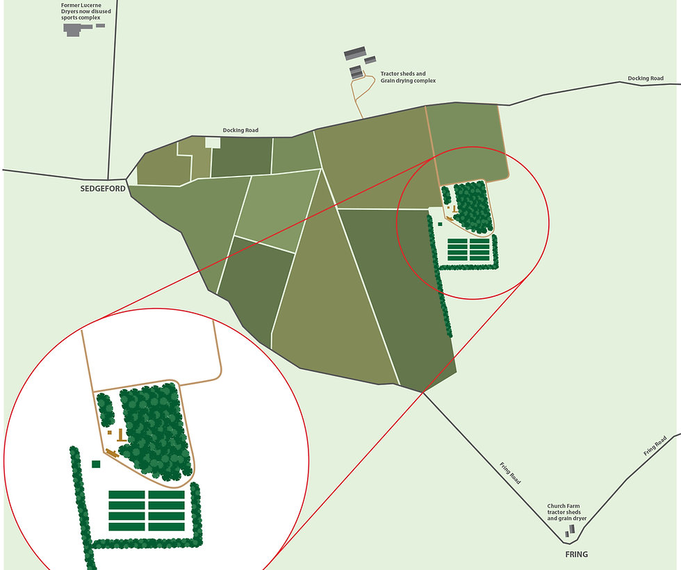 Sedgeford Poultry Chicken Farm Whin Close Map