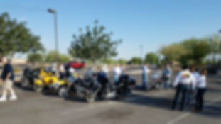 South AZ Retreads Motorcycle Club members assebling for our monthly meeting.