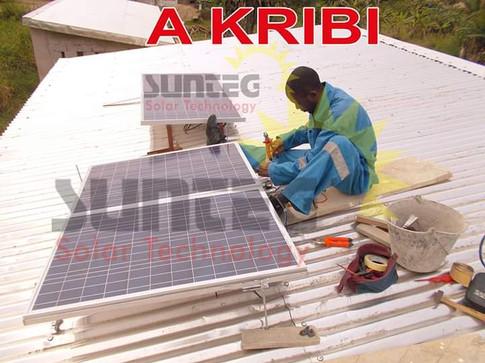 Installation de kit solaire