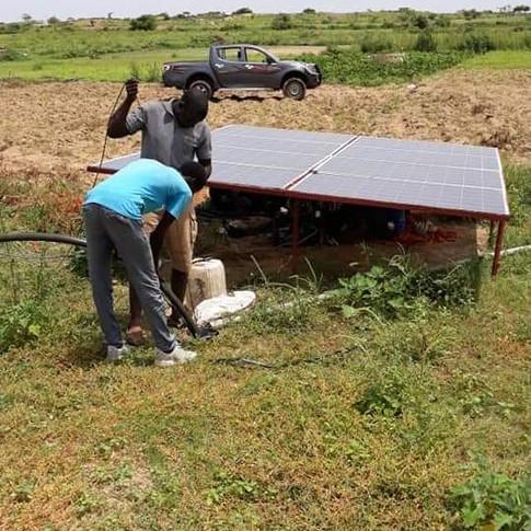 Pompage solaire d'eau potable Sunteg