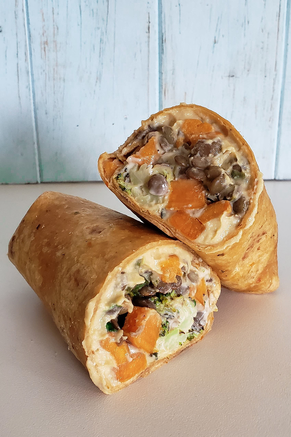tahini sweet potato wrap
