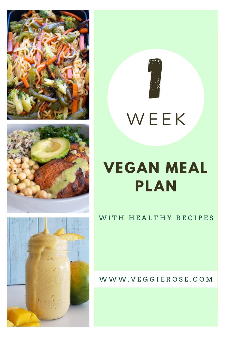 1 week healthy vegan meal plan