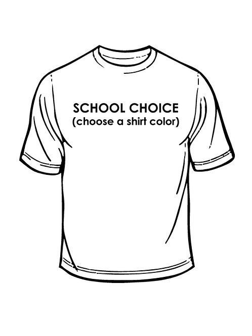 be nice. Tee! Choose your school color!!!