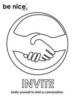 invite coloring page