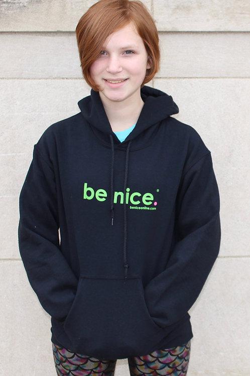 be nice. Hoodie (Gildan)