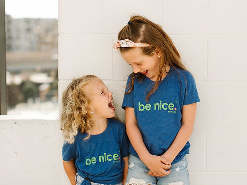 Youth Blue be nice. T-shirt