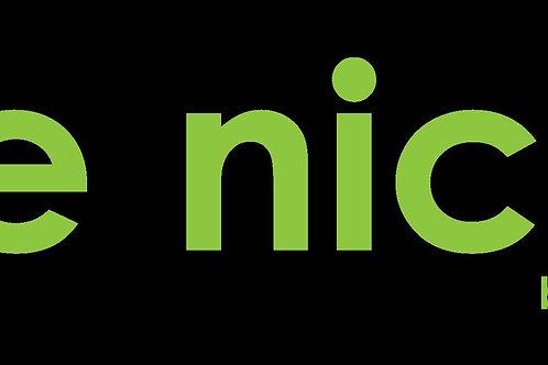 be nice. Logo Poster