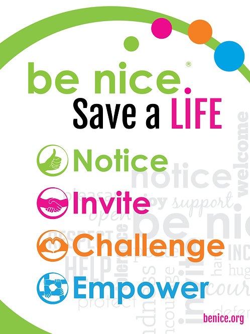 be nice. Save a Life Poster