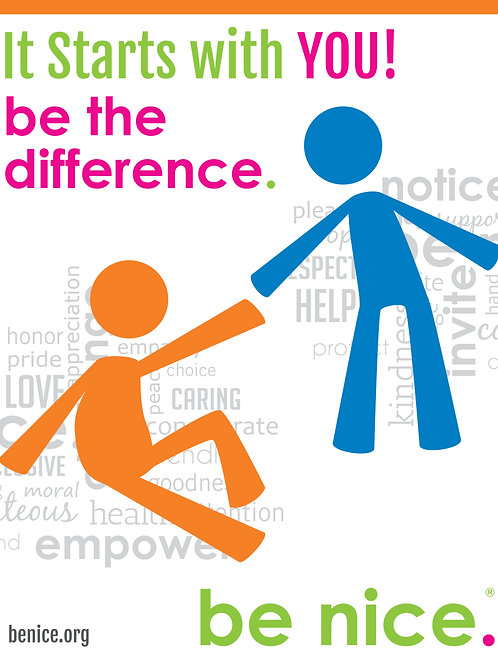 be nice. Be the Difference Poster