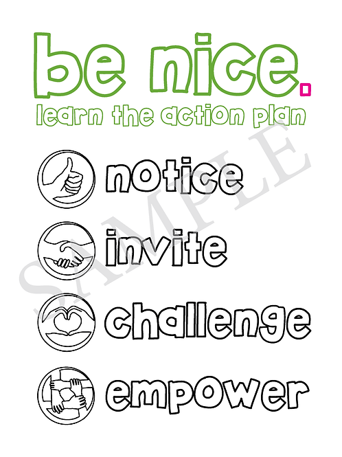 be nice. Coloring and Activity Book