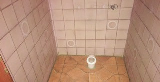 Kunden WC einer Bürogemeinschaft verschönert