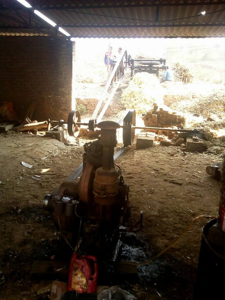 sugarcane juice extracted in kohlu
