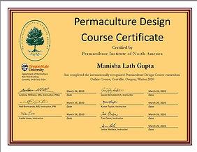 Manisha Lath Gupta PDC Certificate