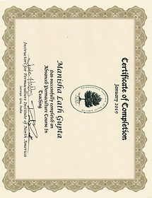 Manisha Lath Gupta PTT Certificate