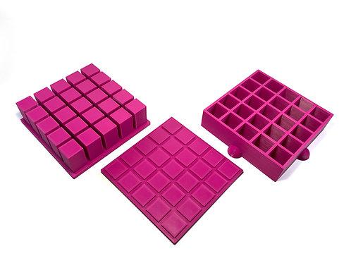 Moule pour Bombe de Bain - Cubes pour insertions (embed) 2 cm