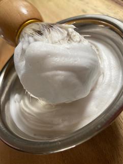 Shaving soap foaming