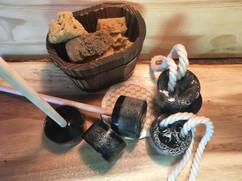Savons noirs loofah