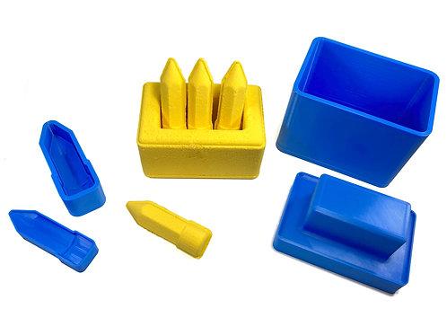 Moule pour Bombe de Bain - Boîte à Crayons