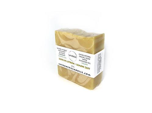 Natural Exfoliating Facial Soap - Lemon Zest