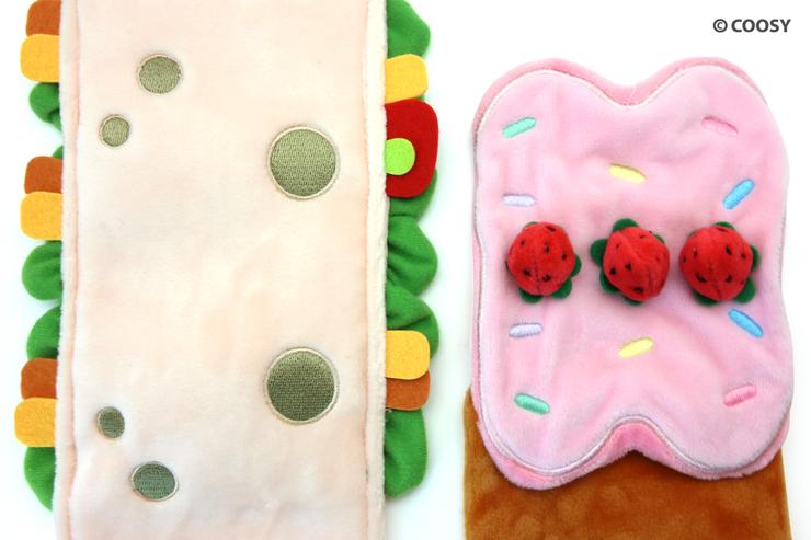 Image of Puppiroll's burrito blanket and Kittiroll's rollcake blanket