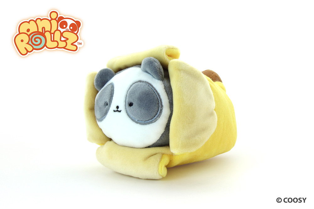 Image of Pandaroll in a Banana blanket.