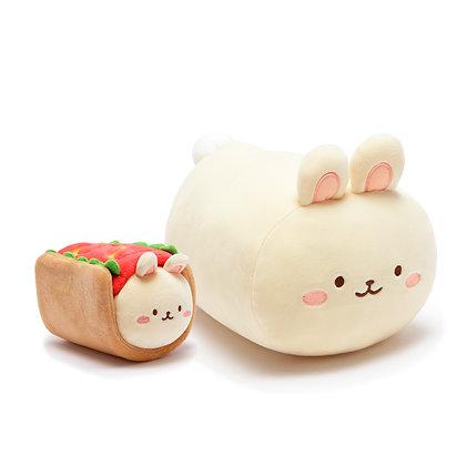 Anirollz Bunny Hot Dog Plush 2pcs Gift Set Bunniroll