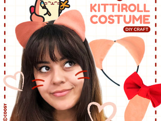 Last Minute DIY Kittiroll Halloween Costume