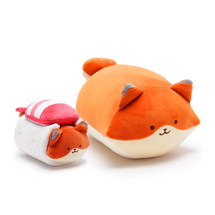 Anirollz Fox Sushi Plush 2pcs Gift Set Foxiroll