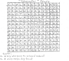 Mr.Marks-Activity-Wordsearch Character s