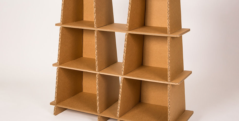 Cardboard Ladder Shelf