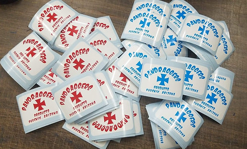 Blue or Red Cross Sticker Set