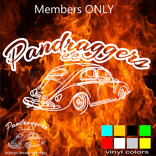Members Only Window Decal
