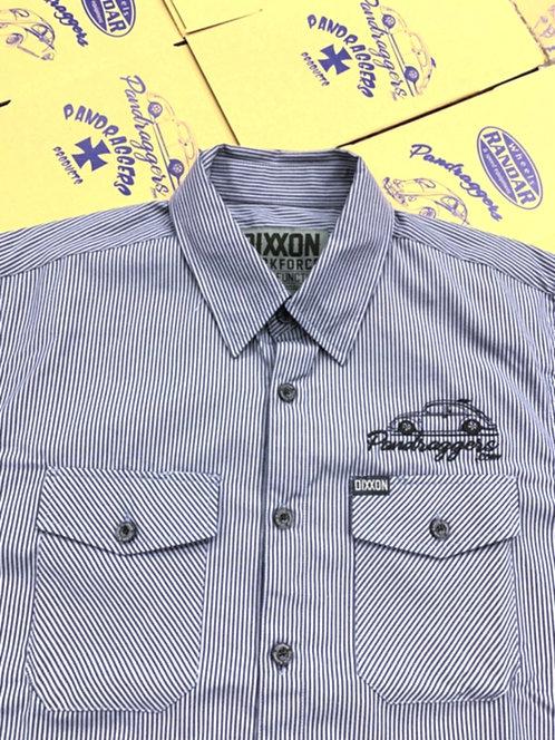 WorkForce Short Sleeve Blue/Grey Striped