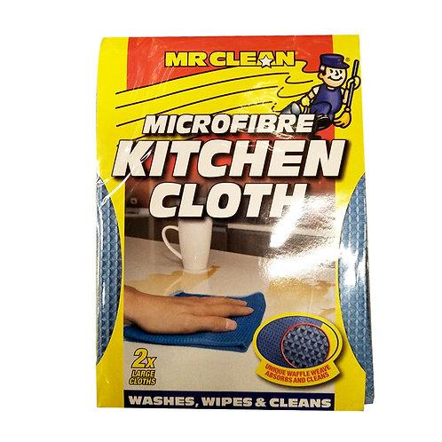 Mr Clean Microfibre Cloths - Kitchen (Large) 2 per pack